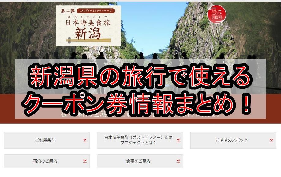 新潟県の旅行で使えるクーポン券情報まとめ!じゃらんやgotoトラベルなどで割引でお得に予約!