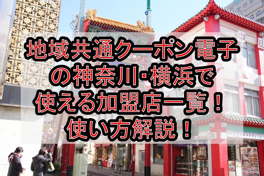 地域共通クーポン電子の神奈川・横浜で使える加盟店一覧!使い方と高島屋や飲食店対象どこか解説!
