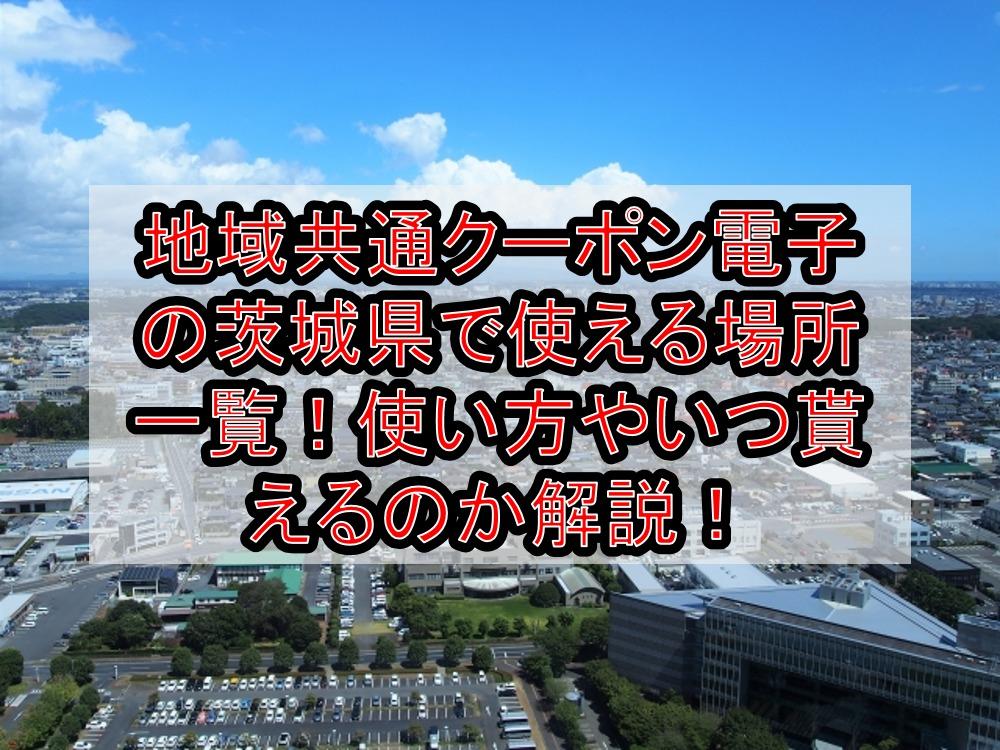 地域共通クーポン電子の茨城県で使える場所一覧!使い方やいつ貰えるのか解説!