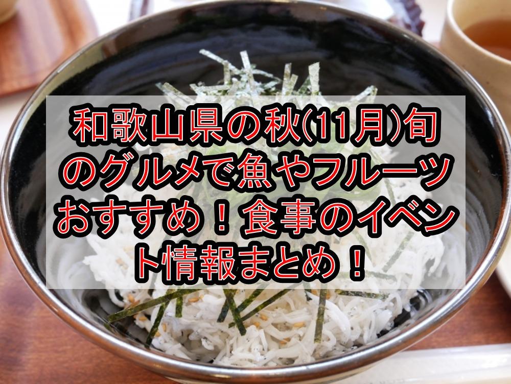 和歌山県の秋(11月)旬のグルメで魚やフルーツおすすめ!食事のイベント情報まとめ!