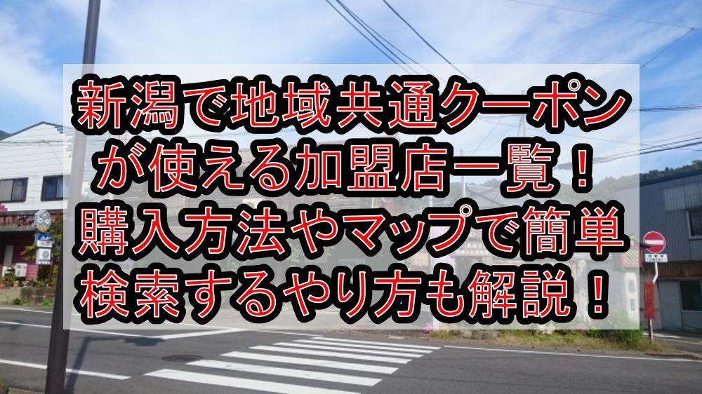 新潟で地域共通クーポンが使える加盟店一覧!購入方法やマップで簡単検索するやり方も徹底解説!