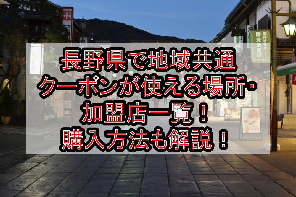 長野県で地域共通クーポンが使える場所・加盟店と隣接都道府県一覧!購入方法も徹底解説!