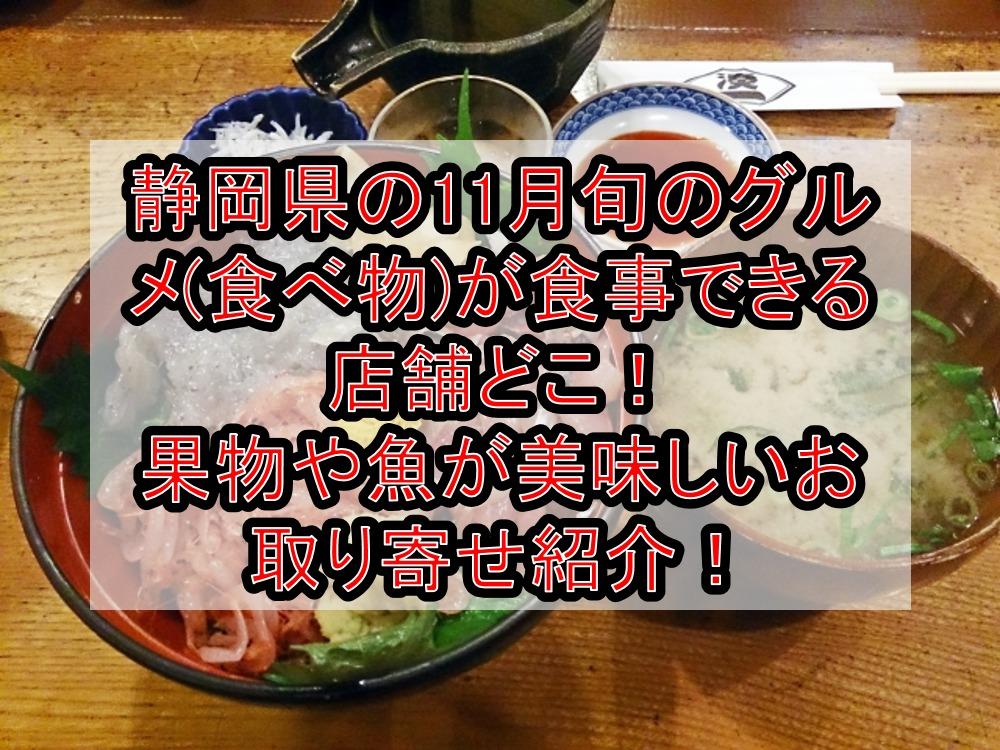 静岡県の11月旬のグルメ(食べ物)が食事できる店舗どこ!果物や魚が美味しいお取り寄せ紹介!