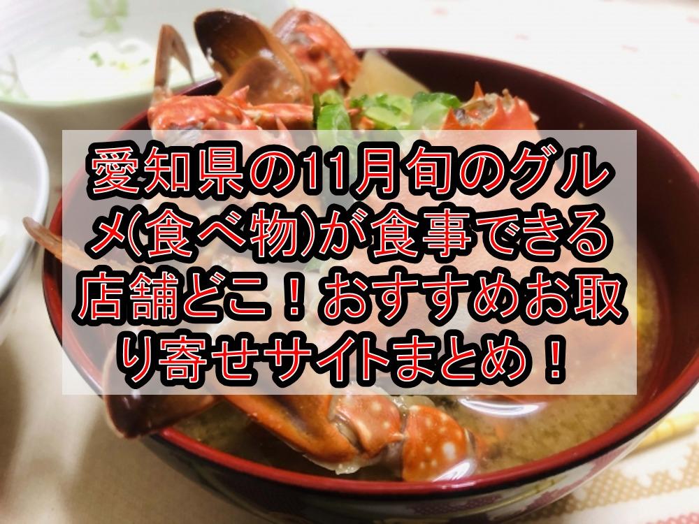 愛知県の11月旬のグルメ(食べ物)が食事できる店舗どこ!魚・フルーツおすすめお取り寄せサイトまとめ!