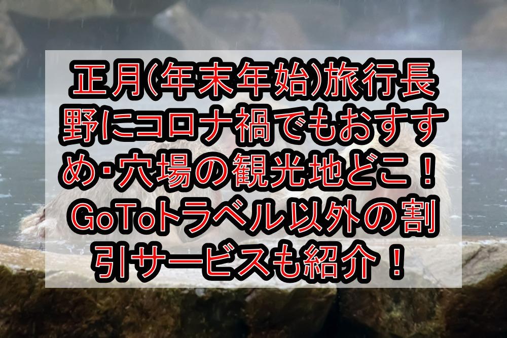 正月(年末年始)旅行で長野にコロナでも安心できるおすすめ・穴場の観光地どこ!GoToトラベル以外の割引サービスも紹介!