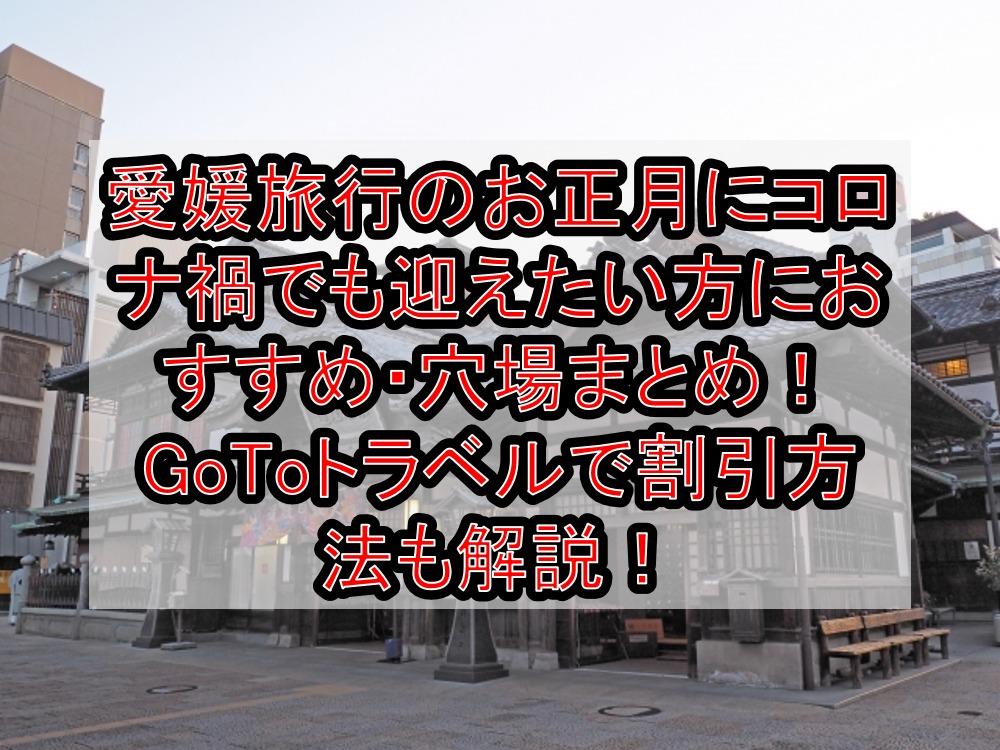 愛媛旅行のお正月にコロナ禍でも迎えたい方におすすめ・穴場まとめ!GoToトラベルで割引方法も解説!