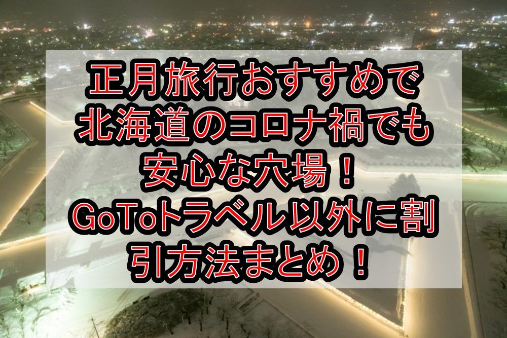正月旅行おすすめで北海道のコロナ禍でも安心な穴場!GoToトラベル以外に割引方法まとめ!