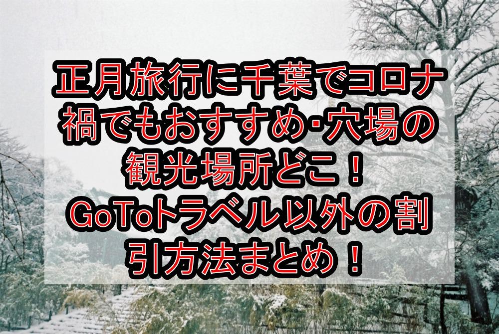 正月旅行に千葉でコロナ禍でもおすすめ・穴場の観光場所どこ!GoToトラベル以外の割引方法まとめ!