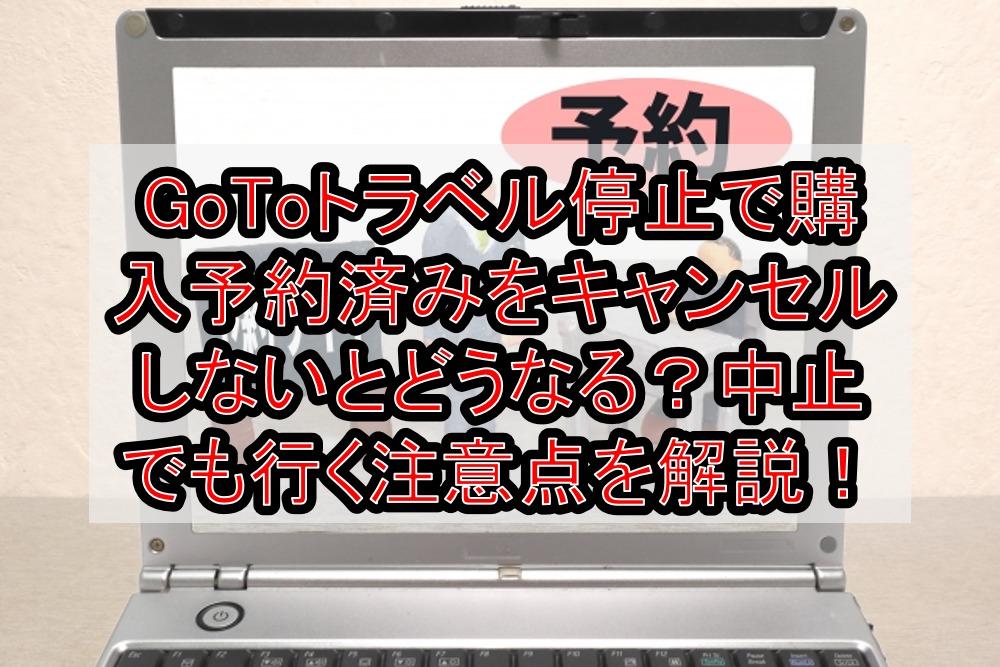 GoToトラベル停止で購入予約済みをキャンセルしないとどうなる?中止でも行く注意点を解説!