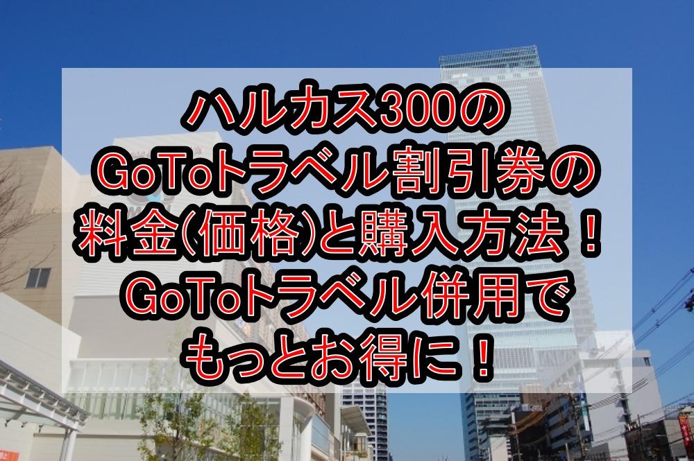 ハルカス300のGoToトラベル割引券の料金(価格)と購入方法!GoToトラベル併用でもっとお得に!
