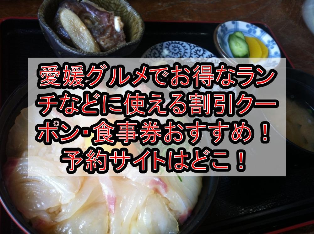 愛媛グルメでお得なランチなどに使える割引クーポン・食事券おすすめ!予約サイトはどこ!