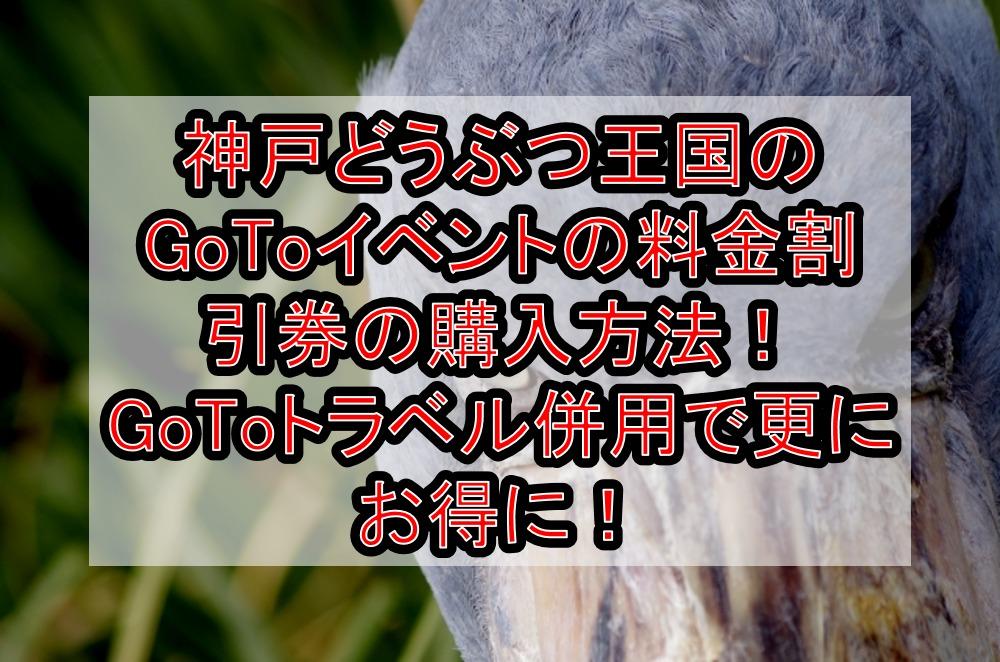 神戸どうぶつ王国のGoToイベントの料金割引券の購入方法!GoToトラベル併用で更にお得に!