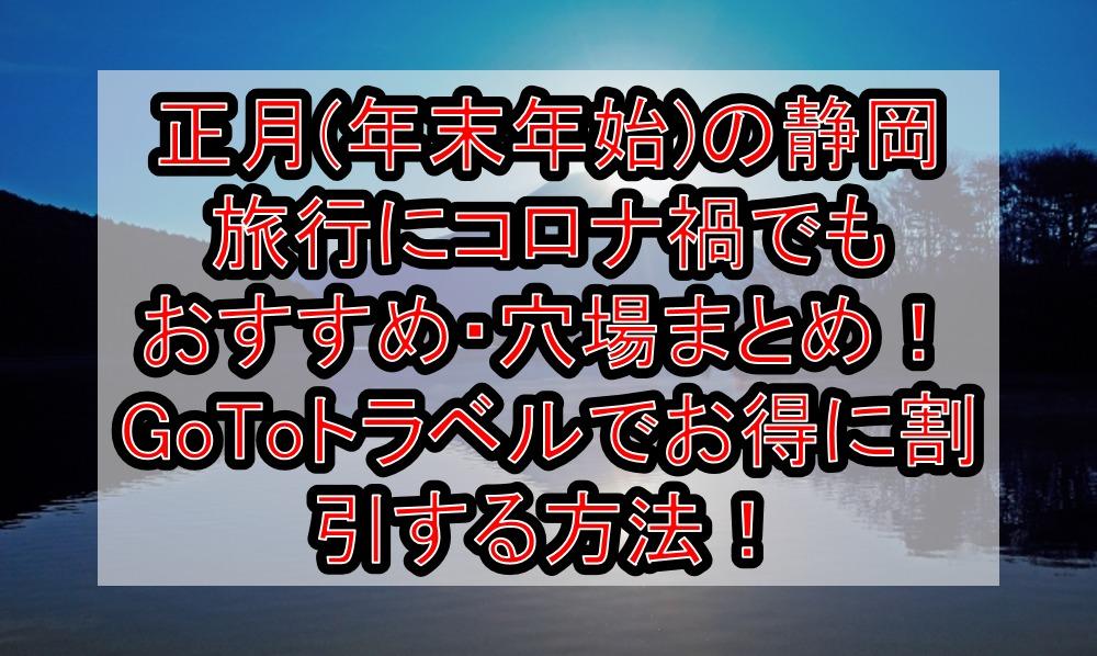 正月(年末年始)の静岡旅行にコロナ禍でもおすすめ・穴場まとめ!GoToトラベルでお得に割引する方法!