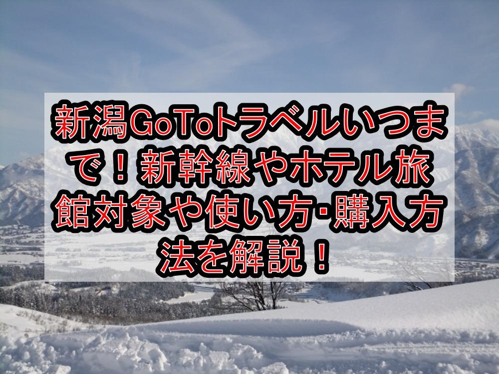 新潟GoToトラベルいつまで!新幹線やホテル旅館対象や使い方・購入方法を解説!