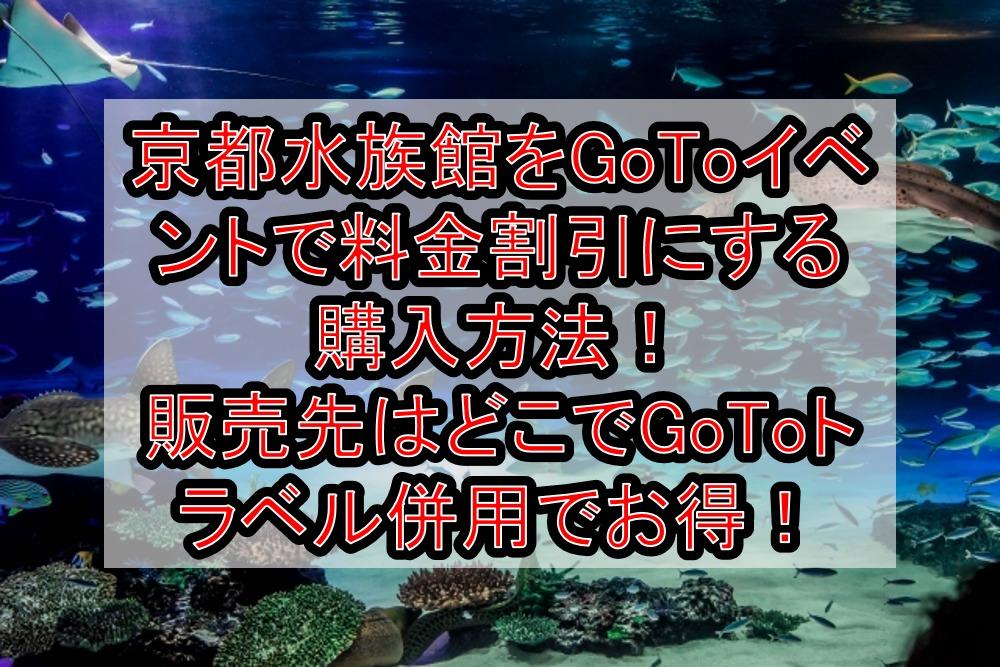 京都水族館をGoToイベントで料金割引にする購入方法!販売先はどこでGoToトラベル併用で徹底お得!