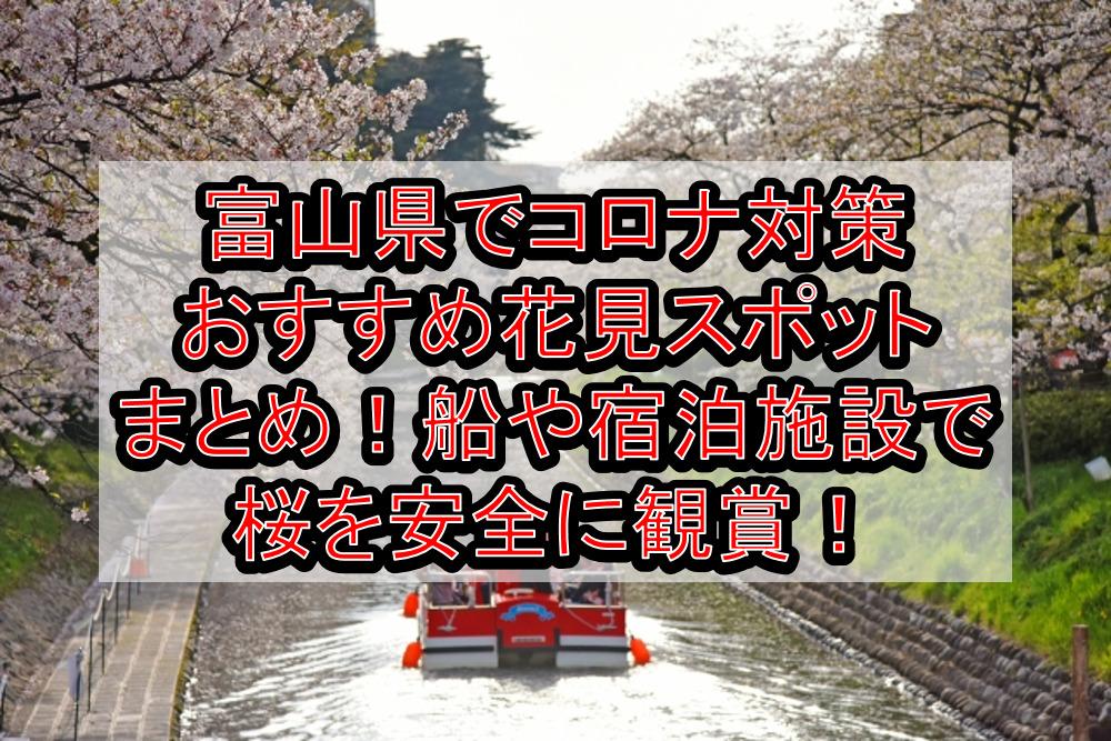 富山県でコロナ対策おすすめ花見スポットまとめ!船や宿泊施設で桜を安全に観賞!【2021最新】