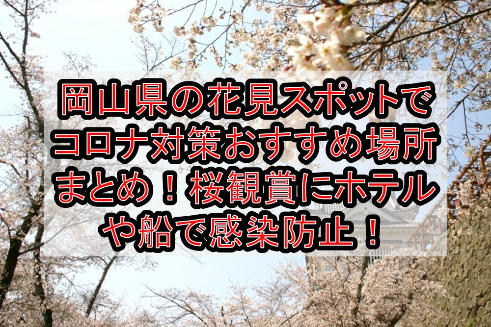 岡山県の花見スポットでコロナ対策おすすめ場所まとめ!桜観賞にホテルや船で感染防止!【2021年最新】
