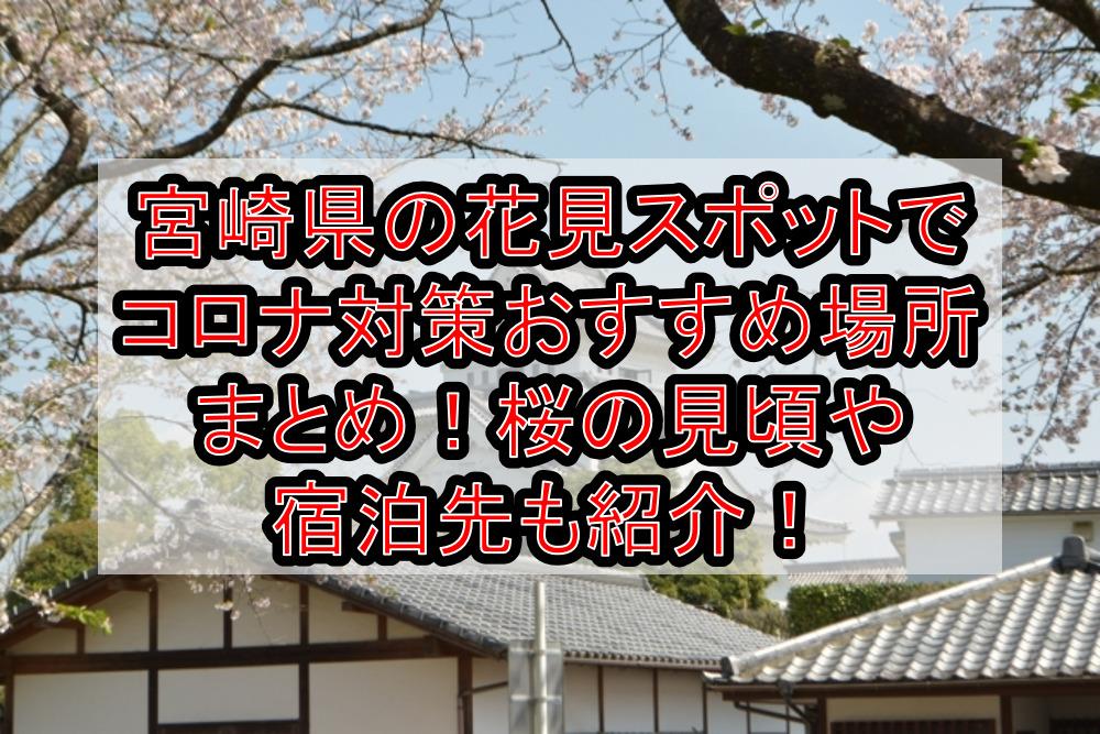宮崎県の花見スポットでコロナ対策おすすめ場所まとめ!桜の見頃や宿泊先も紹介!【2021年最新】