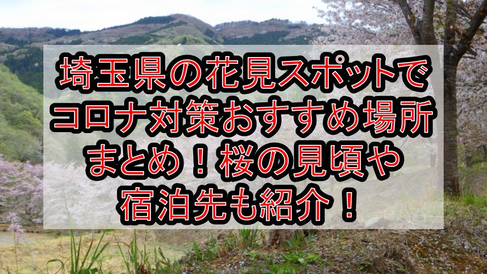 埼玉県の花見スポットでコロナ対策おすすめ場所まとめ!桜の見頃や宿泊先も紹介!【2021年最新】