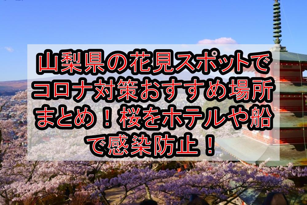 山梨県の花見スポットでコロナ対策おすすめ場所まとめ!桜をホテルや船で感染防止!【2021年最新】