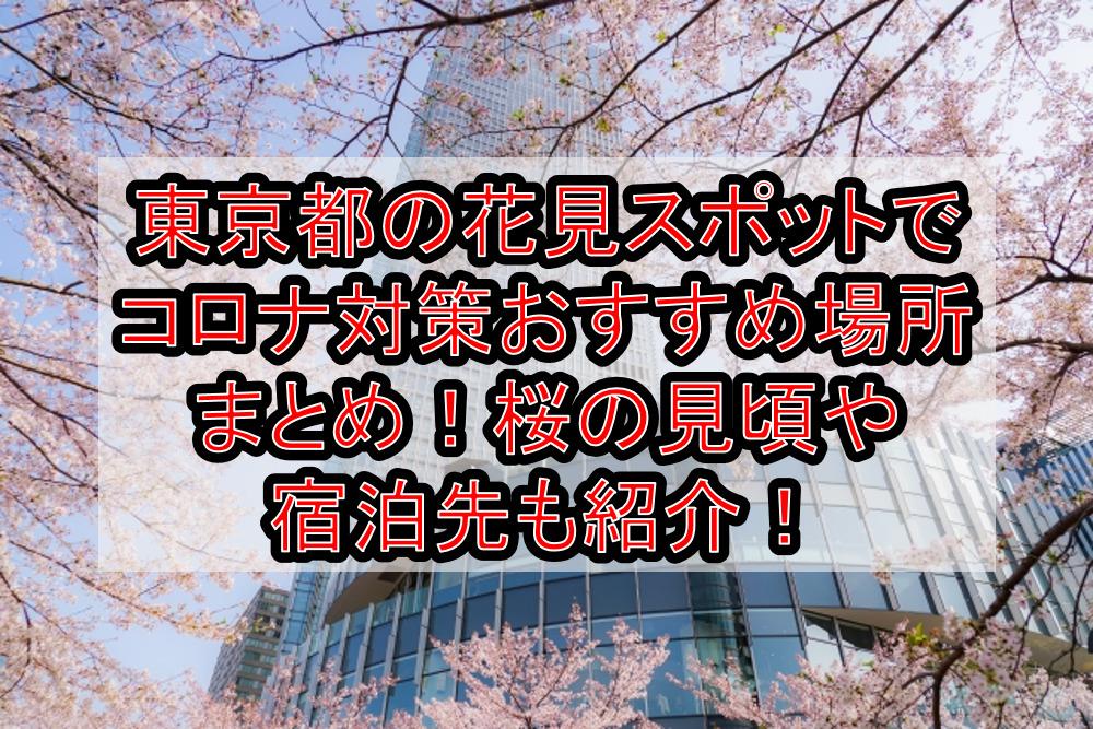 東京都の花見スポットでコロナ対策おすすめ場所まとめ!桜の見頃や宿泊先も紹介!【2021最新】