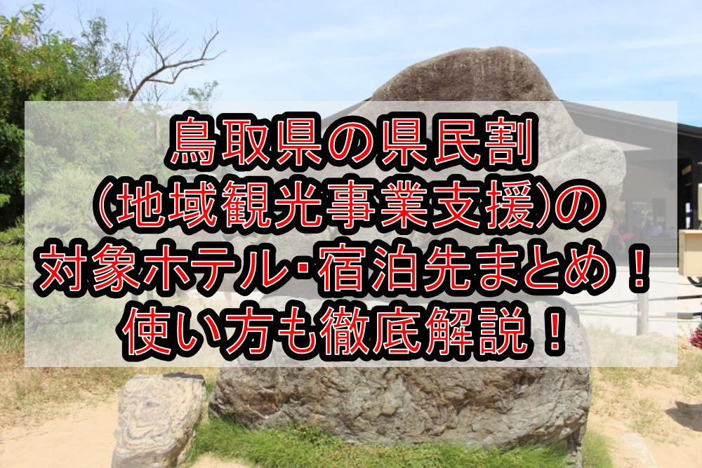 鳥取県の県民割(地域観光事業支援)の対象ホテル・宿泊先まとめ!GoTo代替で使い方も徹底解説!