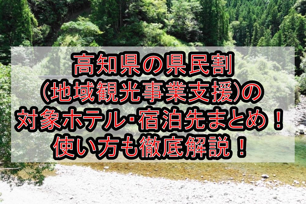 高知県の県民割(地域観光事業支援)の対象ホテル・宿泊先まとめ!GoTo代替で使い方も徹底解説!