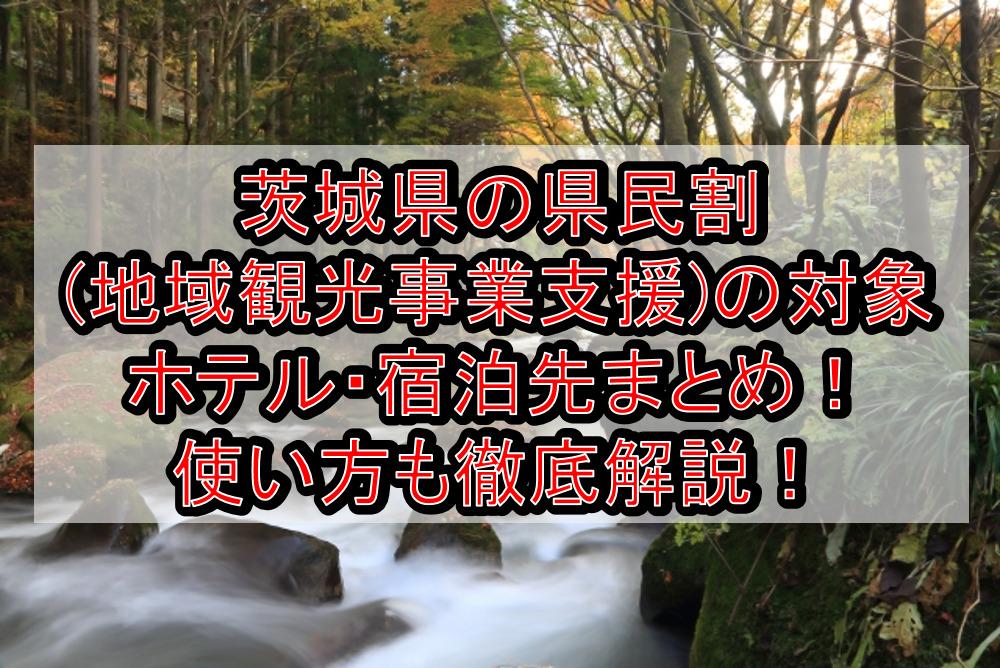 茨城県の県民割(地域観光事業支援)の対象ホテル・宿泊先まとめ!GoTo代替で使い方も徹底解説!