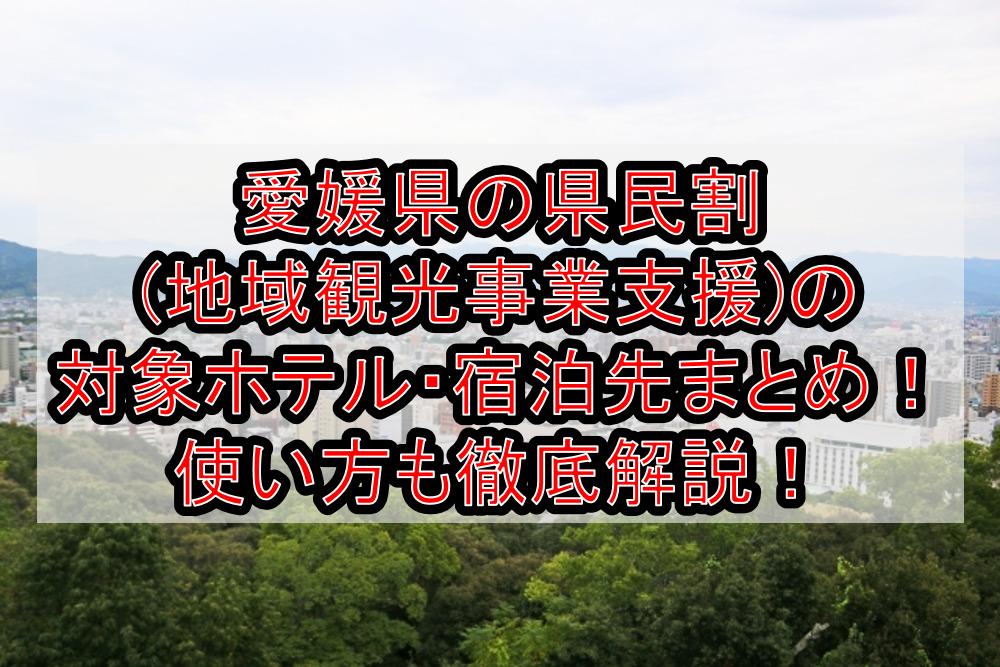 愛媛県の県民割(地域観光事業支援)の対象ホテル・宿泊先まとめ!GoTo代替で使い方も徹底解説!