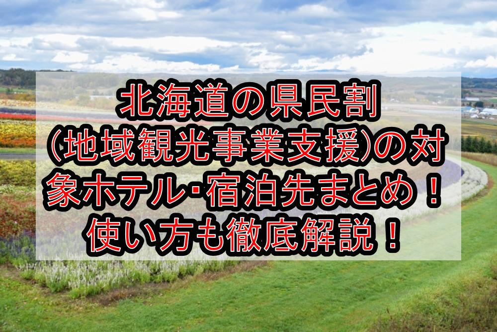 北海道の県民割(地域観光事業支援)の対象ホテル・宿泊先まとめ!GoTo代替で使い方も徹底解説!