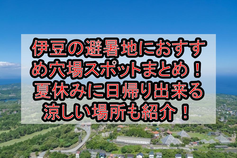 伊豆の避暑地におすすめ穴場スポットまとめ!夏休みに日帰り出来る涼しい場所も紹介!