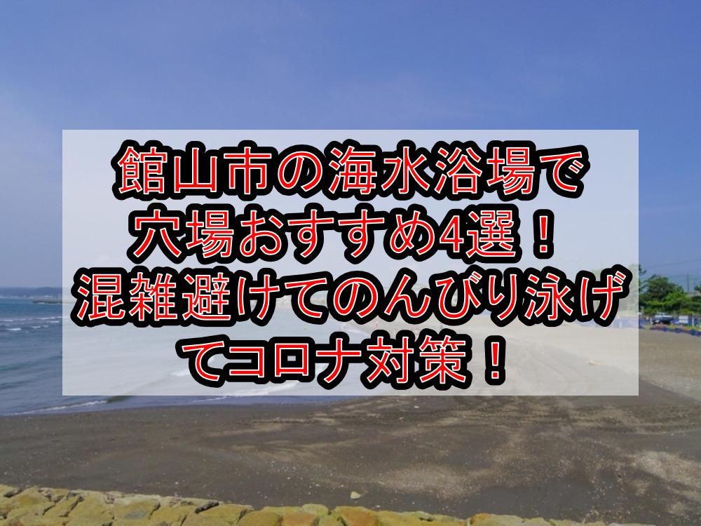 館山市の海水浴場で穴場おすすめ4選!混雑避けてのんびり泳げてコロナ対策!