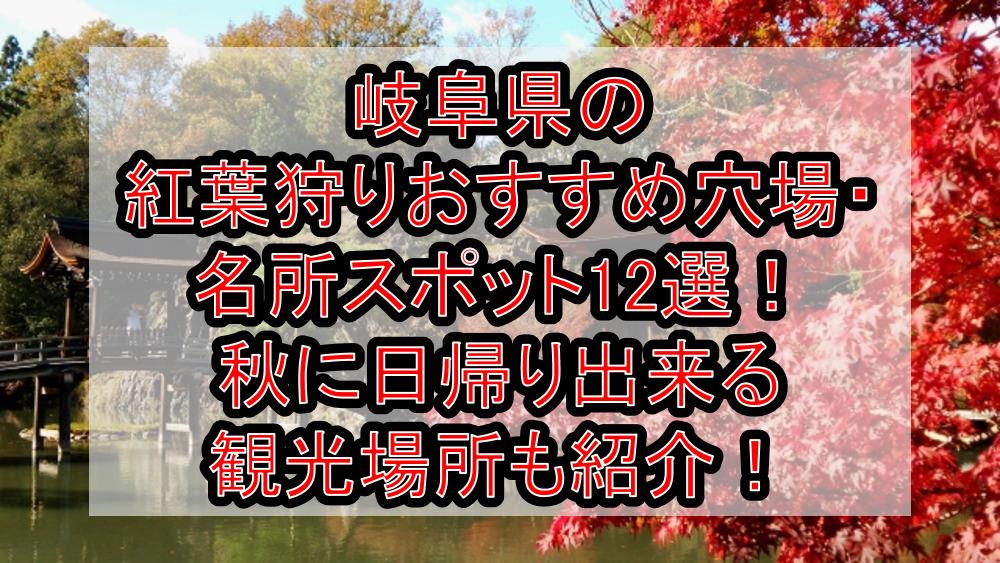 岐阜県の紅葉狩りおすすめ穴場・名所スポット12選!秋に日帰り出来る観光場所も紹介!
