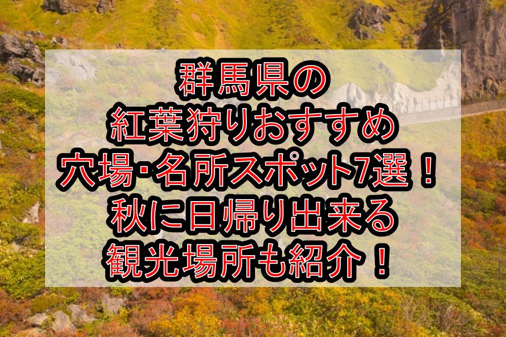 群馬県の紅葉狩りおすすめ穴場・名所スポット7選!秋に日帰り出来る観光場所も紹介!