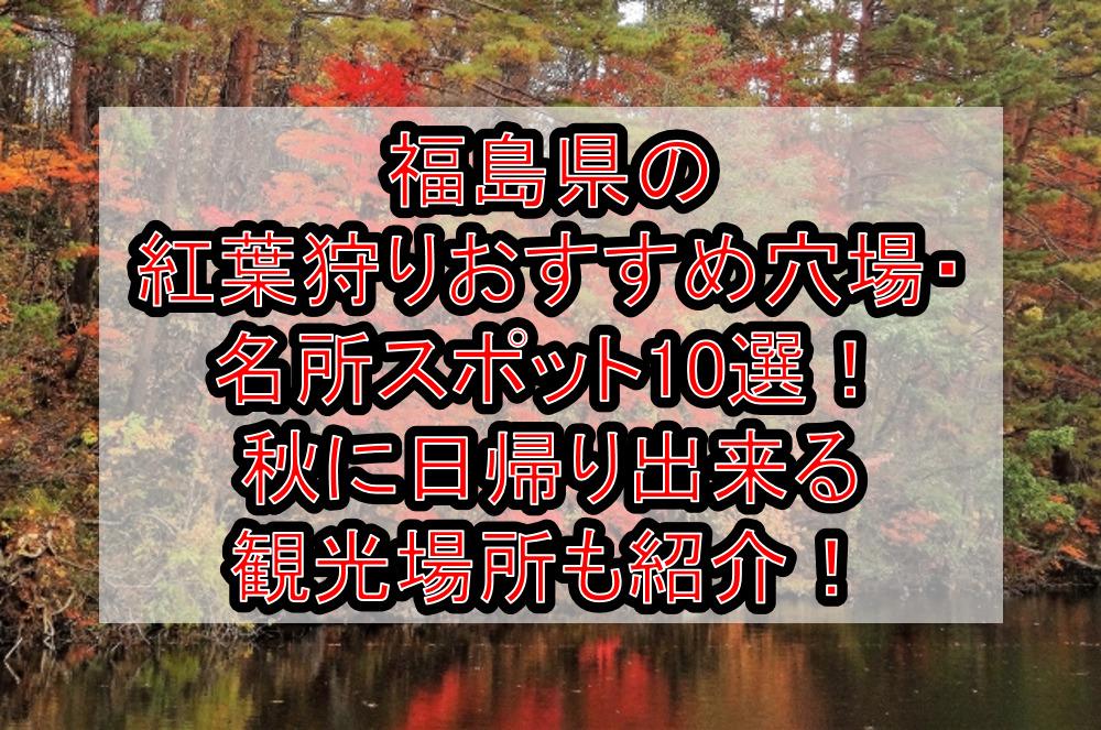 福島県の紅葉狩りおすすめ穴場・名所スポット10選!秋に日帰り出来る観光場所も紹介!