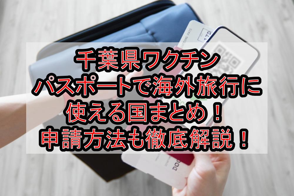 千葉県ワクチンパスポートで海外旅行に使える国まとめ!申請方法も徹底解説!